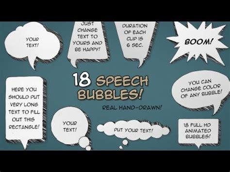 Cartoon Speech Bubbles After Effects Template Youtube Speech After Effects Template Free