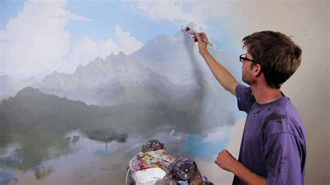 Paint Wall Murals clip from quot how to paint mountains quot with mural joe youtube