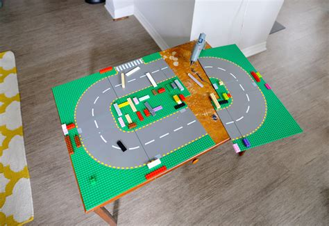diy lego table adhesive diy kid s table into a lego table