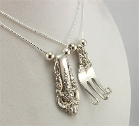 how to make flatware jewelry 1 sterling fork equals 2 forkin necklaces silverware jewelry