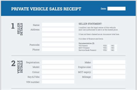 vehicle sales receipt template free used car sales invoice hardhost info