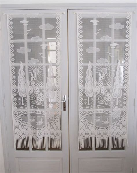 drapes for french doors french white lace curtains french door chateau by