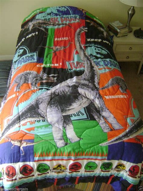 jurassic park bedding jurassic park twin bed comforter amblin dinosaurs movie