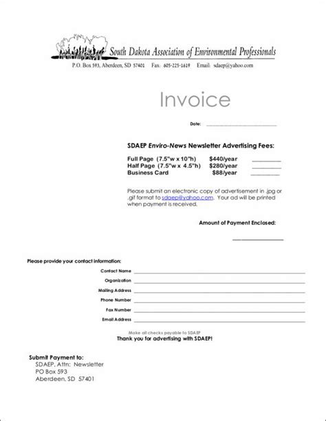 9 advertising invoice templates pdf