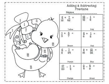 Fraction Coloring Page 5th Grade by Multiplying And Dividing Fractions Coloring Pages