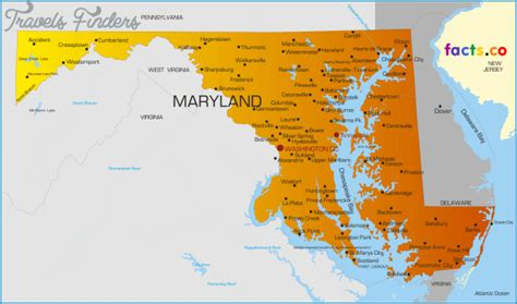 united states map of maryland maryland map travelsfinders