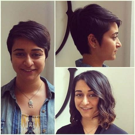 short hair peices and extentions for woman over 50 pixie cut before and after