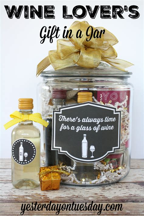 Wedding Gift Ideas Wine by Wine Lover S Gift In A Jar Yesterday On Tuesday