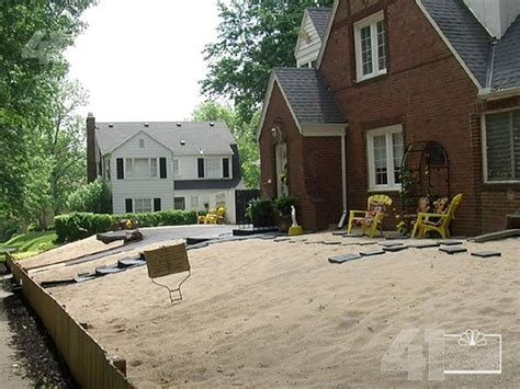 sand backyard kansas city woman turns yard into a beach nbc news