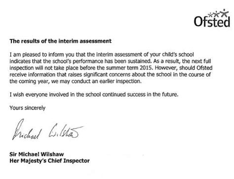 Parent Dedication Letter Welton Primary School Ofsted Parent View