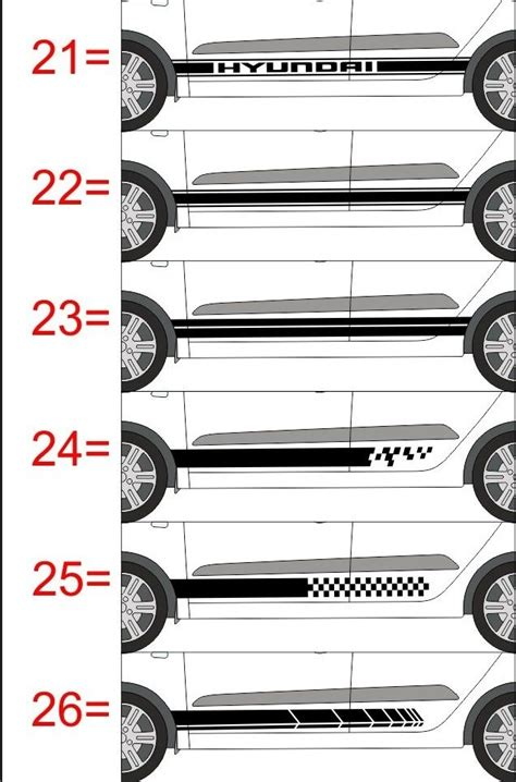 Sticker Lateral Tuning by Sticker Vinil Tuning Lateral Decals Hyundai I10 299 00