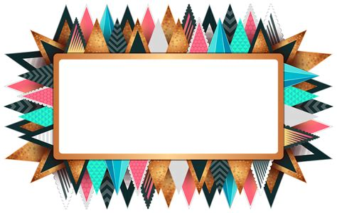 colorful designer free illustration rectangle frame colorful design