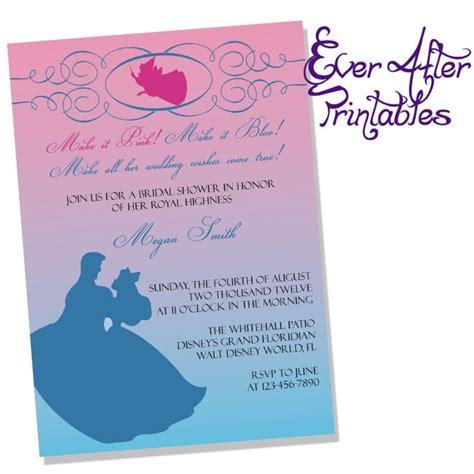 Disney Bridal Shower Invitations by Sleeping Inspired Disney Bridal Shower Or Birthday