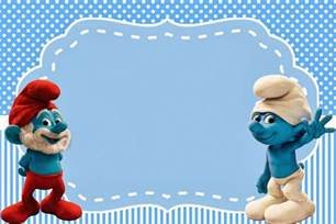 smurfs invitations party free printables boys