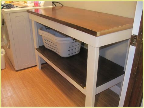 Laundry Folding Table With Storage Laundry Room Folding Table Home Design Ideas