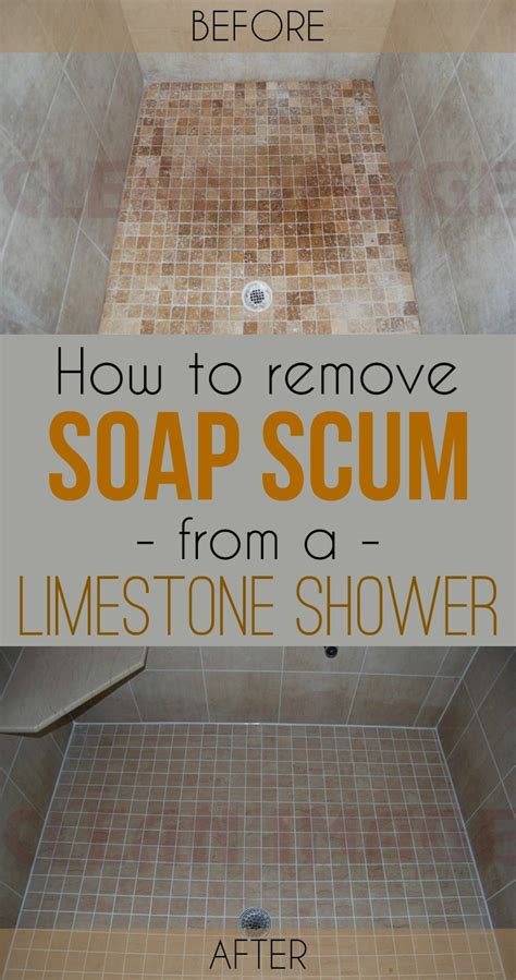 How To Get Rid Of Soap Scum On Shower Doors How To Remove Soap Scum From A Limestone Shower Cleaning Ideas