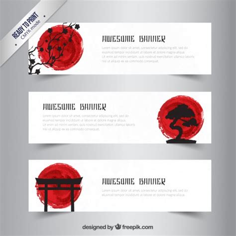 banner design japan japanese banners vector premium download