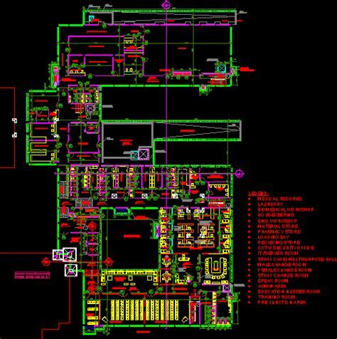 Hospital  india in AutoCAD   Download CAD free (711.04 KB