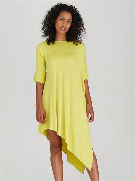 How To Copy Guccis Asymmetrical Yellow Dress For Less by Edit Asymmetric Drape Dress Yellow B21i1a1 Spree Co Za