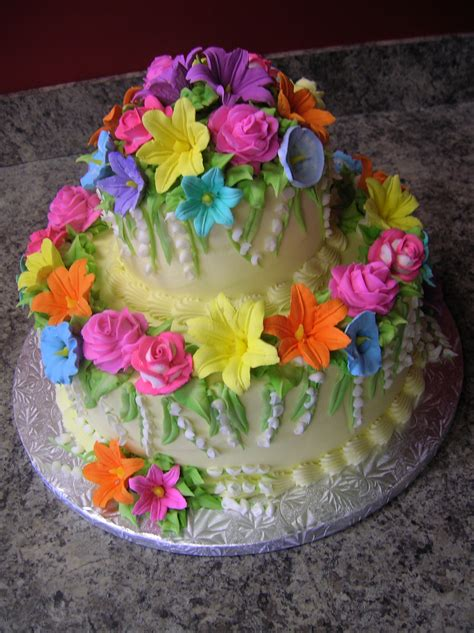 Flower Garden Cakes Flower Garden Cake Cakes Other Edible