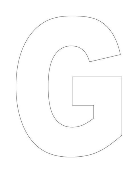 letter g template tami s house