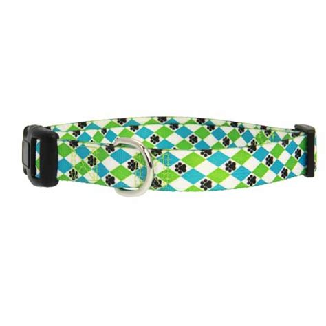 blue pattern dog collar casual canine pooch pattern dog collar blue argyle