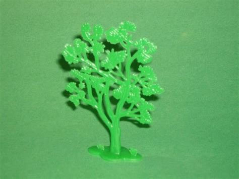 Plastic Tree - green plastic flat style forest tree