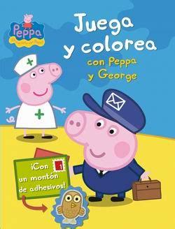 libro the play of george peppa pig juega y colorea con peppa y george