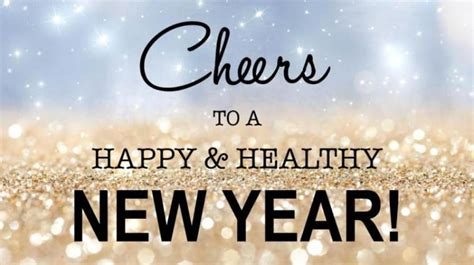 cheers to a happy healthy new year