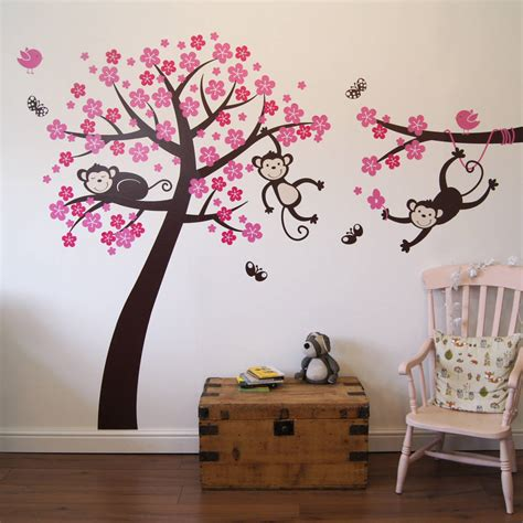 blossom wall stickers monkey blossom tree wall stickers by parkins interiors