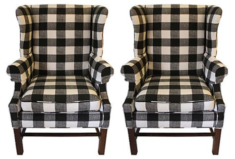 black and white check armchair redirecting