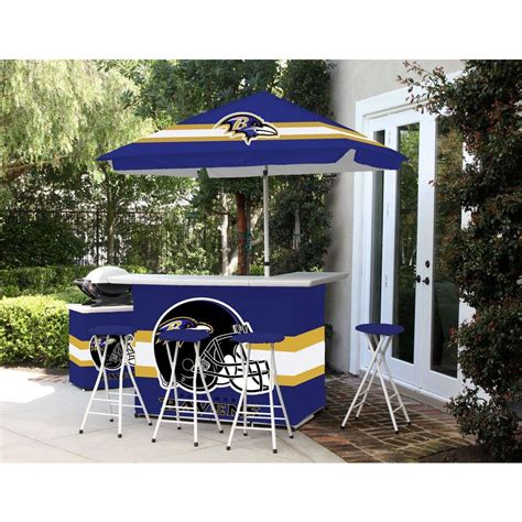 Patio Umbrella Set Best Of Times Baltimore Ravens 6 All Weather Patio Bar Set With 6 Ft Umbrella 2003w1214