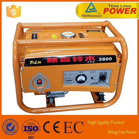 portable 2kw gasoline lpg kerosene power generator for