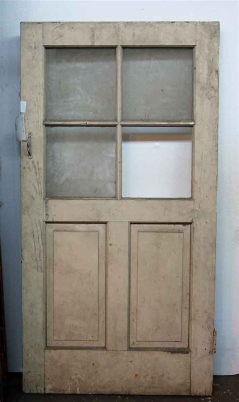 Small Glass Two Panel Entry Door Olde Good Things Small Doors Exterior