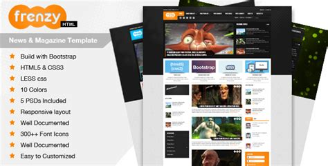 Frenzy Responsive Bootstrap Template By Nackle2k10 Themeforest Add To Cart Template Bootstrap