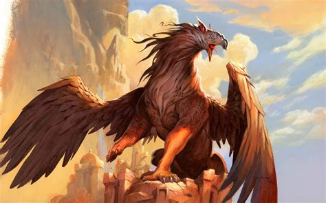 Wallpapers Gryphon Jeff Easley by Miracle World Griffin