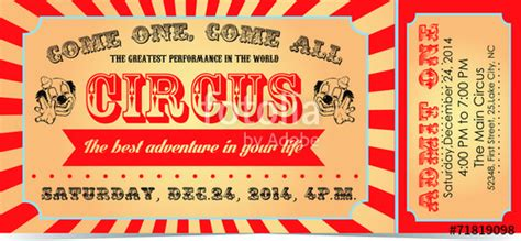 quot circus ticket quot stock image and royalty free vector files