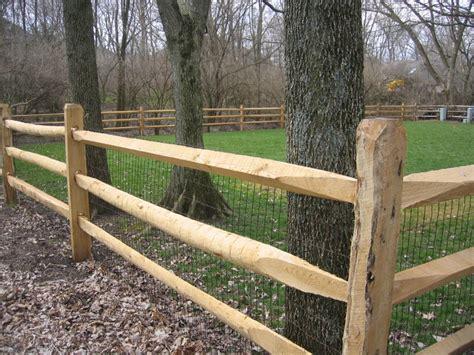 split rail fence black locust post rail fence paddock fence