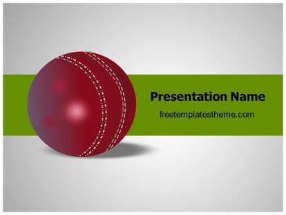 cricket themes for ppt free cricket ball powerpoint template freetemplatestheme com