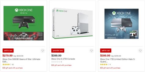 10 Xbox Gift Card Target - target buy any xbox one console and get 30 target gift card including pre orders