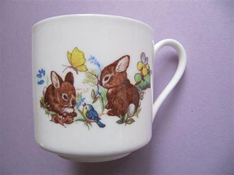 Rabbit And Butterfly Mug 1 childs bone china cup porcelain china mug with