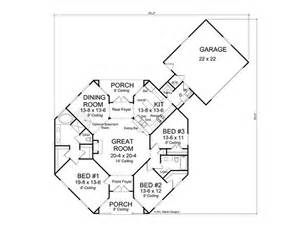 Craftsman Style Floor Plans Floor Plan Hexagon House Contemporary Home 059h 0142