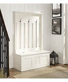 Pottery Barn Bench Seat White Ogden Entryway Hall Tree Storage Bench