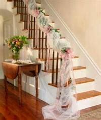 Christmas Decorating Ideas For Banisters Tulle Wedding And Bridal Shower Decorations From Wyla Lace At