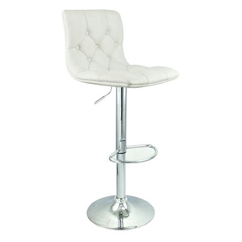 white leather swivel bar stools 6 adjustable hydraulic barstool swivel bar stool white