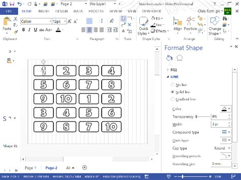 visio number shapes text outlines in visio visio