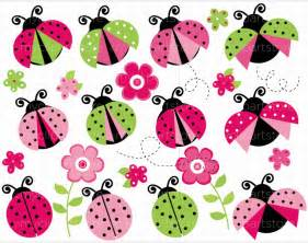 Butterfly Wall Art Stickers pink and green ladybug clipart 1 jpg 760 215 600 lady bug
