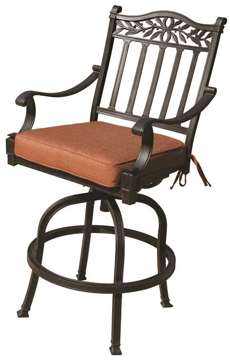 Cast Aluminum Patio Chairs Patio Furniture Cast Aluminum Pub Chair Charleston