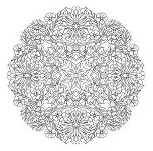 expert mandala coloring pages printable printable coloring page honey suckle mandala arts