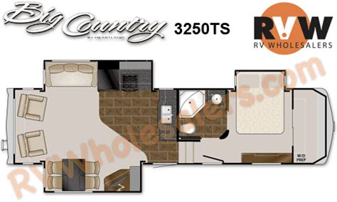 country rv floor plans 2013 heartland rv big country 3250ts fifth wheel the